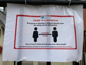 Covid-19-Notice-Sign-Social-Distance-NHS-Public Health Agency