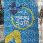 An image mosaic of Belfast - Stay Safe